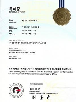 patent card (method of die casting of high speed motor rotor)